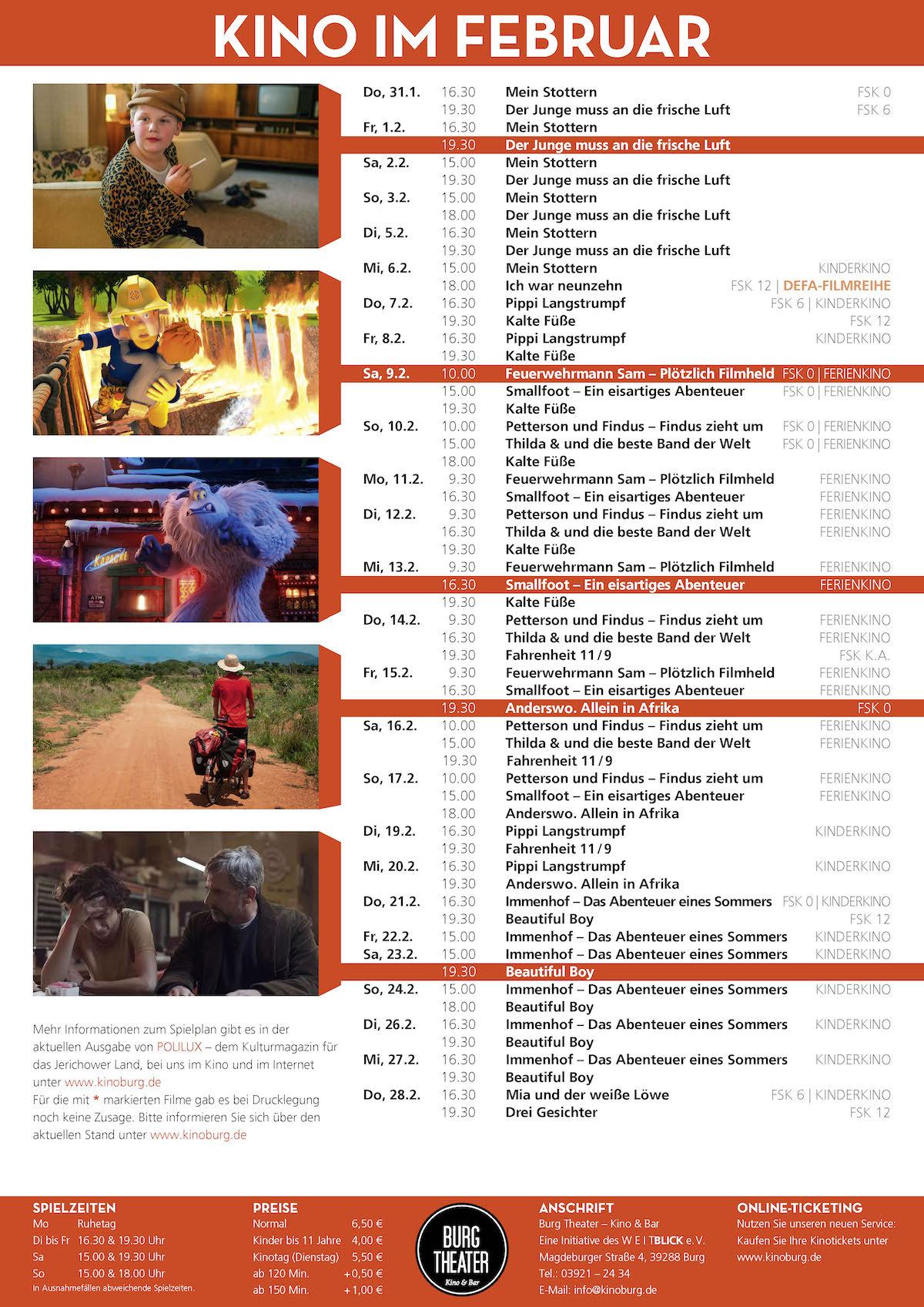 Kino Burg Programm